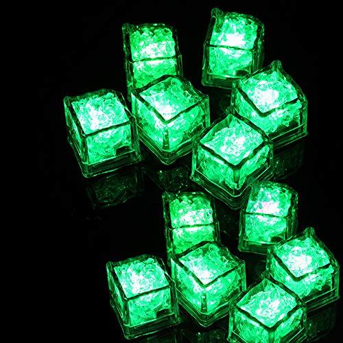 Yagii 12 Stück Im Dunkeln Leuchten Leuchtendes EIS LED-Licht Mehrfarben Flash Spielzeug für Party Verein Flüssigkeit Sensor Spielzeug
