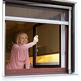 JAROLIFT Insektenschutzrollo (Aluminium) Eco für Fenster 90 x 160 cm - weiss