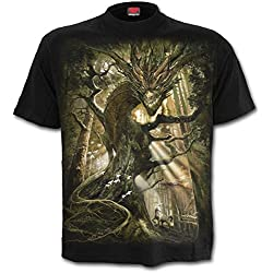 Spiral Dragon Forest Camiseta Negro XXL