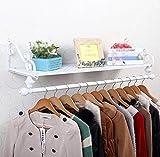 Clothes hat shelf Kombigestell/Europäische Schmiedeeisen-Garderobe/pastoraler Kleiderhaken/Wandmontage Einfache Wandgestell/Wandgestell/ Kombi-Racks / (60/80/100/120 * 28cm)