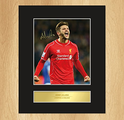 Adam Lallana Signed Mounted Photo Display Liverpool