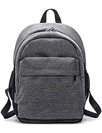 OneMoreT - Mochila de lona impermeable para mujer, mochila de hombro, mochila escolar para