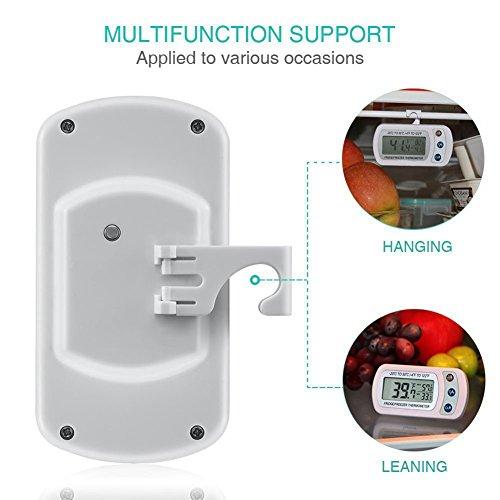 @ Termometro da frigorifero, Aigumi impermeabile frigorifero congelatore termometro digitale con display LCD di facile lettura e max/ 2Pack-White lista dei prezzi