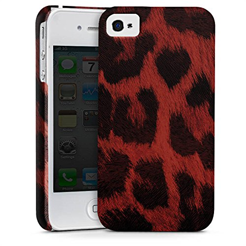 Apple iPhone 4 Hülle Premium Case Cover Leopard Muster Pattern (Leopard-druck Iphone 4 Case)