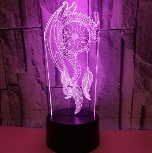 3D Óptico Illusions Led Lámparas Atrapasueños Forma Usb Led Lámpara De Mesa De Noche Luz Hogar Habitación Decoración Niños Juguete Regalo De Navidad A Mi Lado