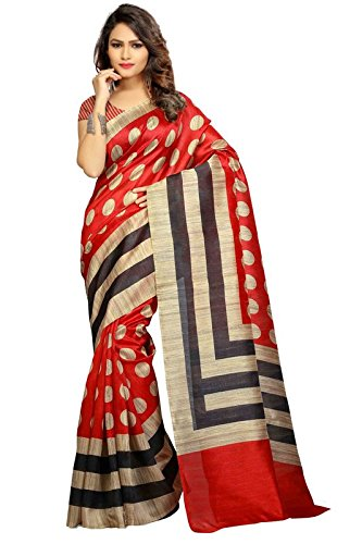 Urban Vastra Red-Beige Polka Dot Bhagalpuri Silk Printed Saree ( 20437VYM5566RED )  available at amazon for Rs.499