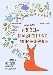 Kritzel-Malbuch und Mitmachbuch. 8-12 Jahre