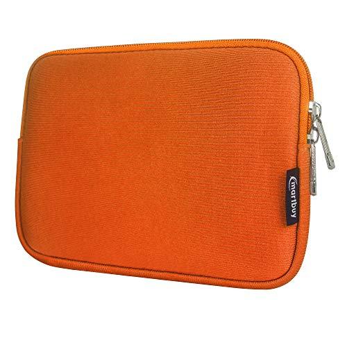 Emartbuy Laptop Neoprene Sleeve case with Zip for Datawind Ubislate 1Gb Ram (Orange Plain - 8 Inch)
