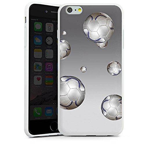 Apple iPhone X Silikon Hülle Case Schutzhülle Fußball Sport Silber Silikon Case weiß