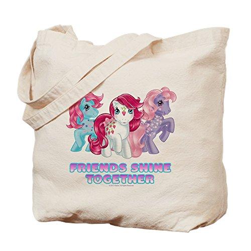 CafePress–My Little Pony Retro Friends Glanz Togeth–Leinwand Natur Tasche, Reinigungstuch Einkaufstasche S khaki (Pony-geschenk-tasche Little My)