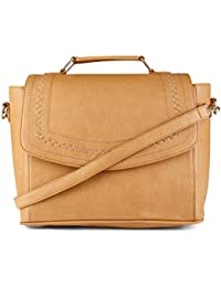 Scoop Street 22566CAMEL Camel Embroidery Design Trendy New Fashion Hand Bag With Long Sling For Women