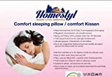 Comfort Kissen 40x80cm Anti-Bakteriell Anti-Milben Alergikergeeignet