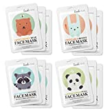 Lookatme Animal face mask - 12 Premium Cute Face Sheet Masks For Purifying, Energizing, Smoothing, Moisturizing. Awesome Korean skin care
