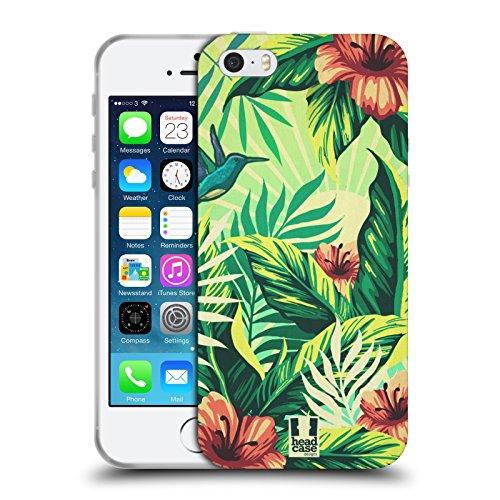 Head Case Designs Jungle Imprimées Tropicaux Étui Coque en Gel molle pour Apple iPhone 6 / 6s Nature