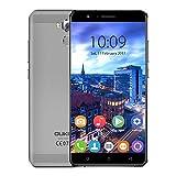 Oukitel U16 Max Téléphone Portable Android 7.0 Smartphone 4G Batterie 4000mAh Écran de 6.0 pouces HD 720P 3Go 32Go 13MP Caméra gris