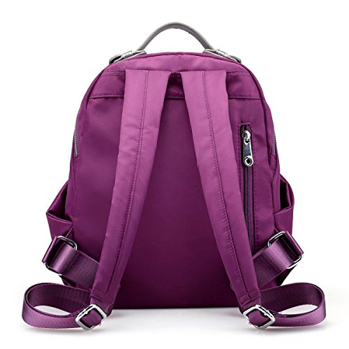 Nylon Licht Damen Wasserdicht All-Spiel Reisen Mode Rucksack Handtasche Purple