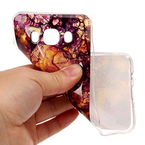 Qiaogle Téléphone Coque - Soft TPU Silicone Housse Coque Etui Case Cover pour Apple iPhone 5 / 5G / 5S / 5SE (4.0 Pouce) - YH48 / No.13 Naturel Marbre YH53 / Colour18