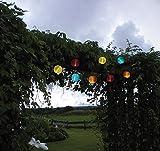 Hochwertige Party - Lichterkette SOLAR , Gesamtlänge 470 cm , ideal zur Beleuchtung von Pflanzen, Pergola , Mauern , Pavillon , Bäumen und Büschen - LED SOLAR LICHTERKETTE - mit 10 LED - Lampen und einem Solar - Panel mit Dämmerungsensor - Solar Energy - Für den Innen - und Außen - Bereich geeignet - aus dem KAMACA-SHOP , FARBE : (Bunt)