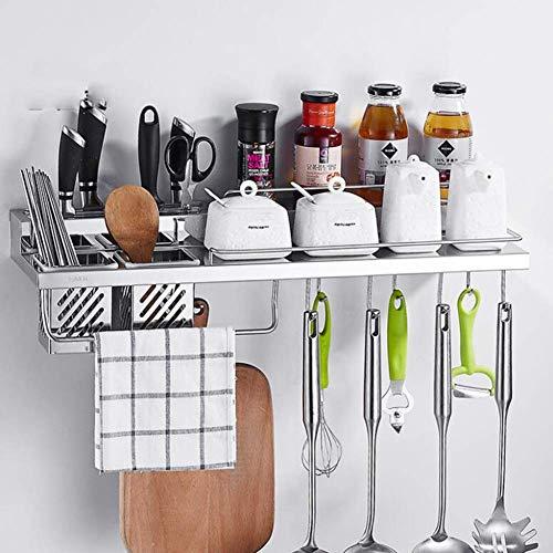 FEE-ZC Praktisches Gewürzregal, Küchenregal, Flaschenhalter, Aufbewahrungsorganisator für Küchenwände, Schränke, Schränke oder Arbeitsplatten, Aufbewahrungslösung für Küche und Speisekammer, a, 80 cm