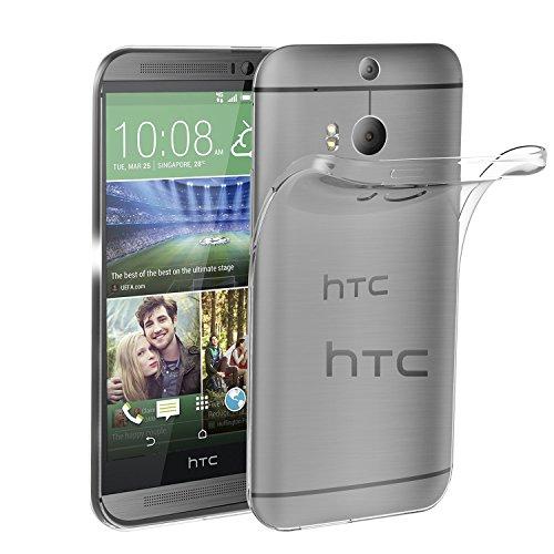 HTC One M8 Hülle, iVoler Premium Hülle Tasche Schutzhülle Case Cover Transparent Klare Weiche TPU Silikon Gel Schutzhülle Bumper Löschen Back für HTC One M8