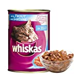 #7: Whiskas Wet Meal Adult Cat Food Trout & Sardine, 400 g Can