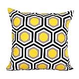 Sunnywill Geometrische Form Sofa Bett Home Decor Kissen Fall Kissenhülle (Gelb)
