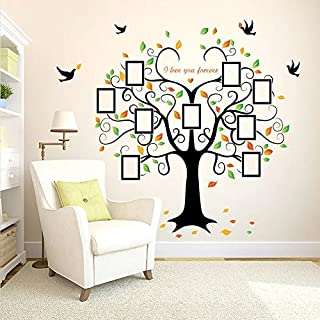 WandSticker4U- Wall Sticker Large Photo family tree | Effect Picture: 160 x 204 cm | Frame Family Tree Wall Sticker for Living Room, Kitchen, Hall, XXL