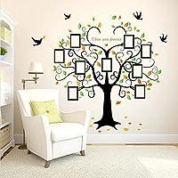 wandsticker4u wandtattoo riesiger familie foto baum effektbild 160x204cm wandsticker stammbaum - Wandtattoo Wohnzimmer Baum
