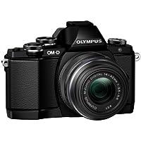 Olympus OM-D E-M10 Kamera (Live MOS Sensor, True Pic VII Prozessor, Fast-AF System, 3-Achsen VCM Bildstabilisator, Sucher, Full-HD, HDR) inkl. 14 bis 42 mm Standard-Objektiv (manueller Zoom) schwarz