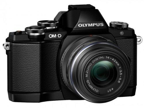 Olympus OM-D E-M10 Kamera (Live MOS Sensor, True Pic VII Prozessor, Fast-AF System, 3-Achsen VCM Bildstabilisator, Sucher, Full-HD, HDR) inkl. 14 bis 42 mm Standard-Objektiv (manueller Zoom) schwarz Olympus Image Systems