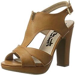 XTI Damen Camel Pu Ladies Sandals Pumps, Beige (Camel), 38 EU