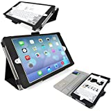 iTALKonline Apple iPad Mini 3 Tablet Retina Display (Wifi + 3G) Black Stand & Type PU Leather Executive Multi-Function Wallet Case Cover Organiser Flip with Built in Typing Stand