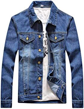 Zhhlaixing Calidad premium Mens High Quality Long Sleeve Spring Autumn Denim Jacket Size:L-4XL/02