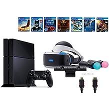 PlayStation VR Start Bundle10 Items:VR Start Bundle,PS4,7 VR Game Disc PSVR Until Dawn: Rush of Blood,PSVR EVE: Valkyrie,PSVR Battlezone,Batman: Arkham VR, PSVR DriveClub,PSVR B(Version US, Importée)