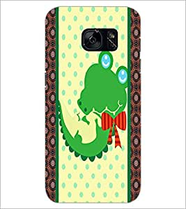PrintDhaba Cartoon D-3364 Back Case Cover for SAMSUNG GALAXY S7 (Multi-Coloured)