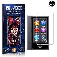 Bear Village® Protector de Pantalla iPod Nano 7, 9H Cristal Templado, Anti-Golpe, Transparente Protector de Pantalla para Apple iPod Nano 7, 1 Piezas