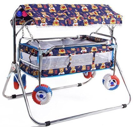 The Style Pro Baby's Steel Swing Cradle (Blue)