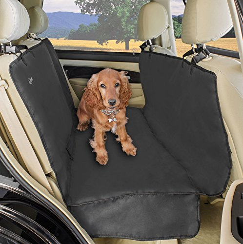 A2S Luxury Hammock Pet Seat Cover & Cargo Cover 3 Layers Waterproof - Extra Dog Seat Belt & Convenient Zipper - Non-Slip for Cars, SUVs & Trucks with Double Flaps & Absolutely Comfortable (Dark Gray) (Ringer Monkey)