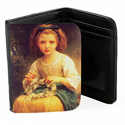 william-adolphe-bouguereau-child-braiding-a-crown-schwarz-pu-brieftasche-geldborse-kreditkarte-holde