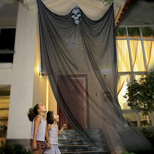Littlegrasseu Halloween Decoraciones Colgantes Cortina para...