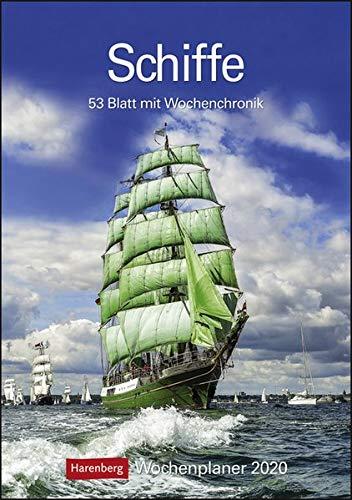 Schiffe Kalender 2020: Wochenplaner, 53 Blatt mit Wochenchronik