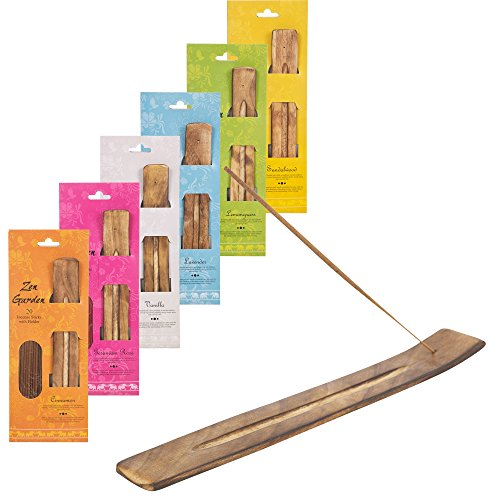 20-Wooden-Incense-Sticks-Holder-Set-Burner-Ash-Catcher-Fragrance-Scents-Gift