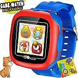 Jeu Enfants Montre Intelligente pour Enfants Filles Garçons avec des Jeux d'appareil Photo Podomètre Minuteur Alarme Écran Tactile Horloge Jouet Smartwatch Montre-Bracelet Santé Moniteur (Bleu)