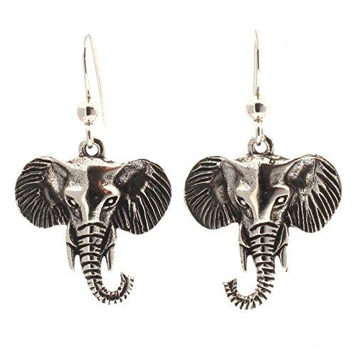 Touch Jewellery - Pendientes de plata de ley, diseño de cabezas de...