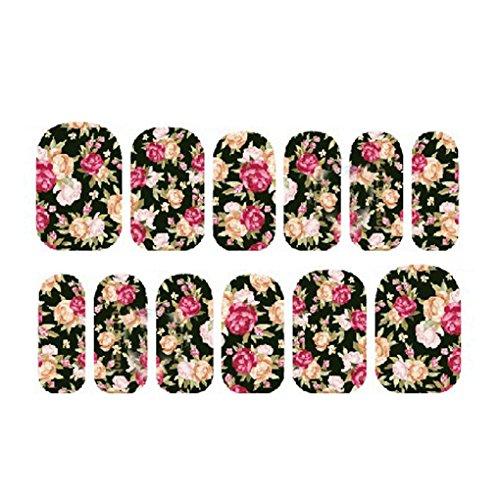 ELENXS Accessoires beauté 3D Rose bâton ongles autocollants sur Nail Art Stickers manucure Conseils