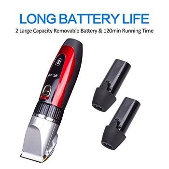 Surker Tondeuse Chien Avec Batterie ÉLectrique 2 Batterie Tondeuse À Poils Pour Petits Moyens Et Grands Chiens Chats Et Autres Animaux