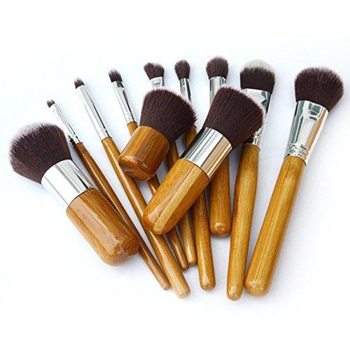 Nestling� 11pcs Professional Wooden Handle Makeup Brush Set Cosmetic Brush Kit Makeup Tool