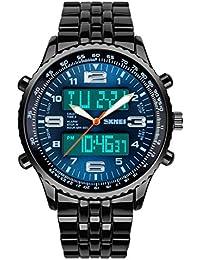 ufengke® Chronohraph Wasserdicht Kalenderfunktion Elektronische Armbanduhr für Männer Jungen, Große Zifferblatt Sportuhr