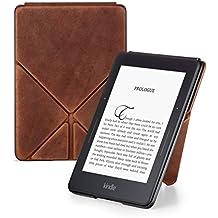 Amazon - Étui Origami en cuir premium pour Kindle Voyage, Marron - Édition limitée