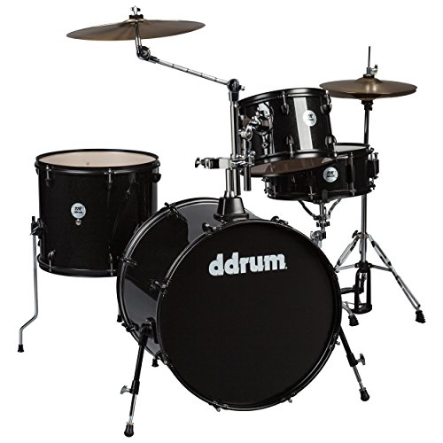 ddrum D2 Rock Series Complete Drum Set mit Becken Black Sparkle